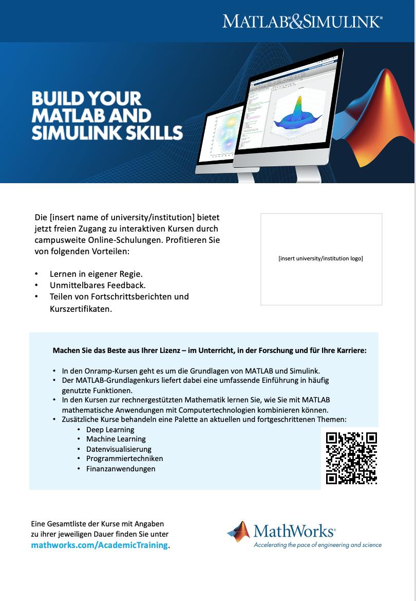 Campusweite Lizenz Onlineschulung Postervorlage A4