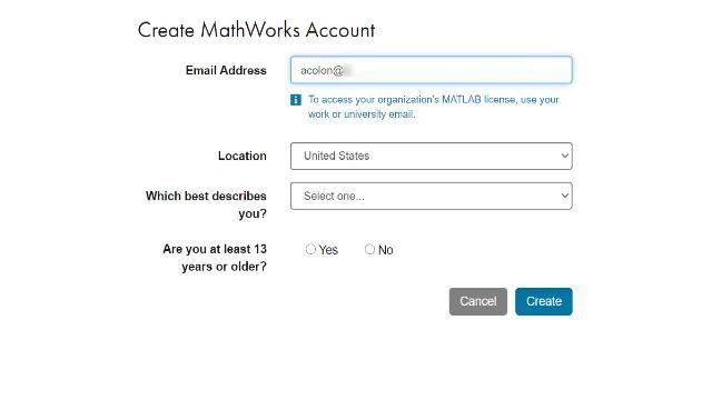 Sollten Sie an einer Universität mit einem Portal für eine Campus-Wide Licence arbeiten, befolgen Sie diese Schritte, um einen MathWorks-Account zu erstellen und zu starten.