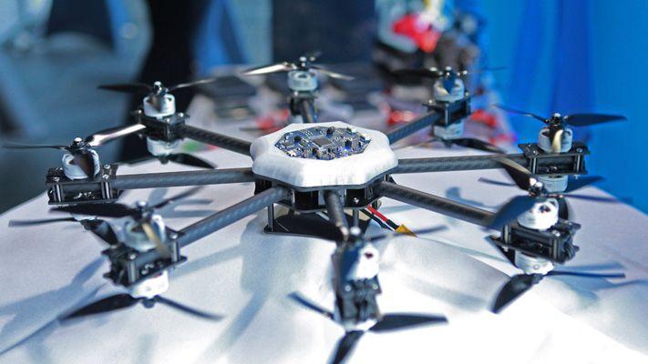 Drohne am Demostand