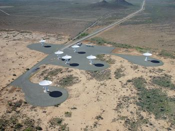 Figure 5. Aerial view of the KAT-7 array.
