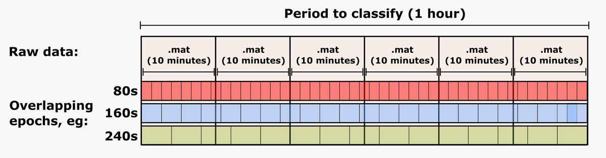 Abbildung 2: In sequenzielle Perioden unterteilte EEG-Daten aus MAT-Dateien.