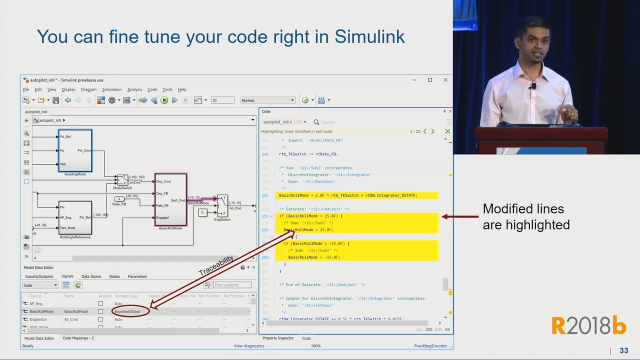 Learn about how to use Embedded Coder to quickly specify software implementation details and then view and trace the generated code within Simulink