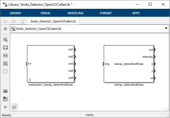 Mit OpenCV-Code in Simulink lächelnden Gesichtsausdruck erkennen