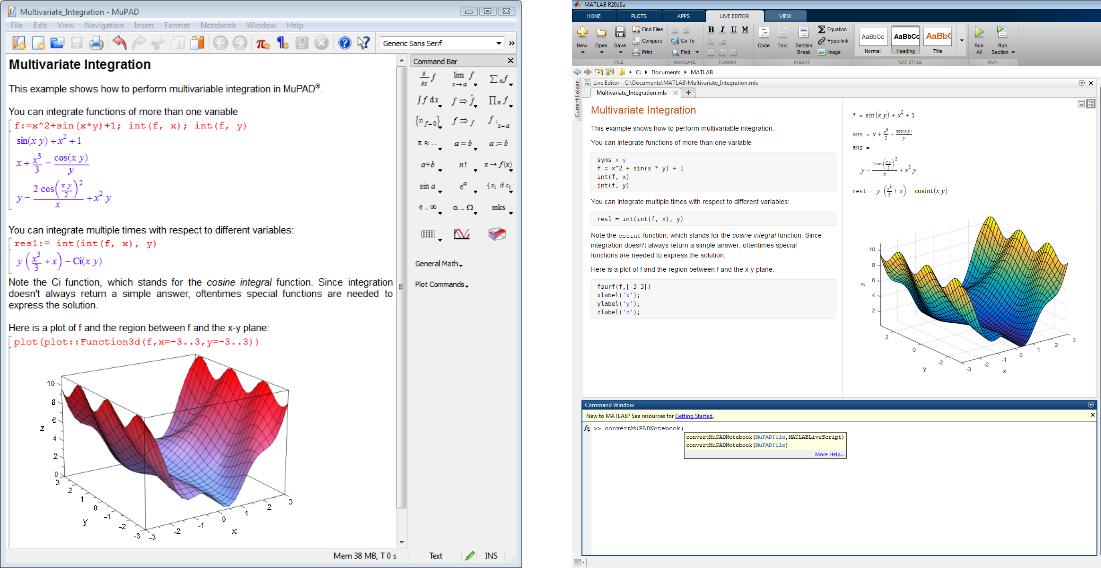 Mupad matlab simulink mupad notebook to live script fandeluxe Images
