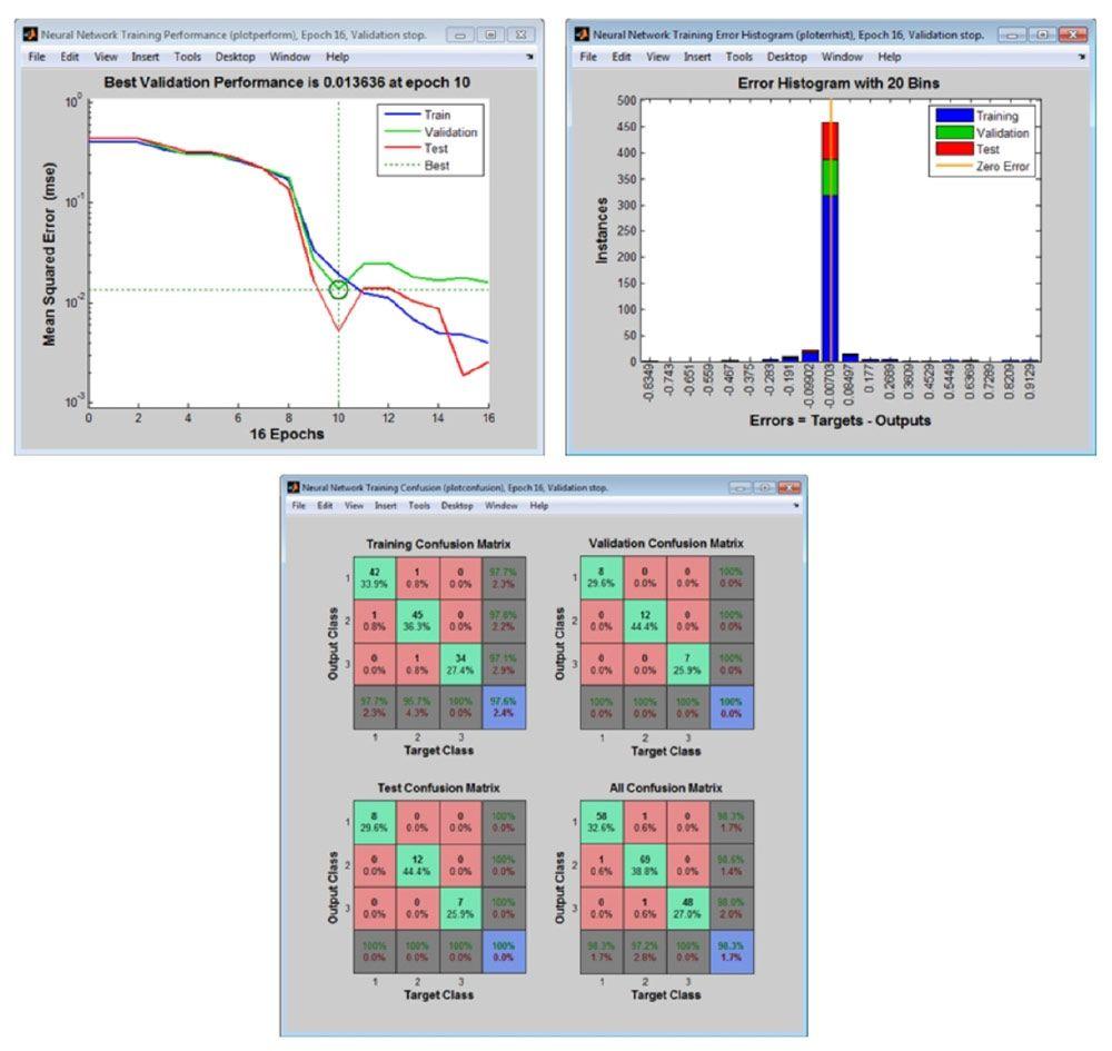 Darstellungen der Nachverarbeitung zur Analyse der Netzleistung.