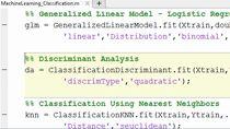 Erfahren Sie, wie Tools für Machine Learning in MATLAB verwendet werden können, um Problemstellungen in den Bereichen Regression, Clustering und Klassifikation zu lösen.