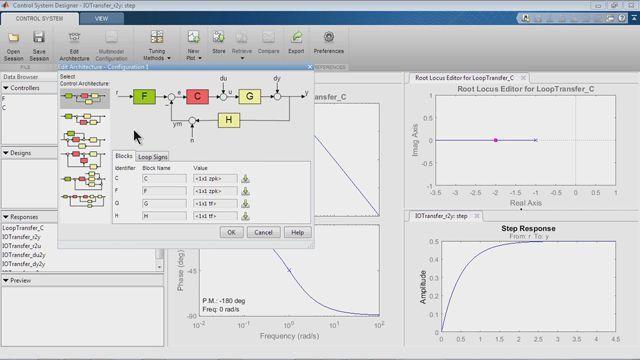 Entwickeln Sie Steuerungs- und Regelungssysteme mit dem SISO Design Tool.