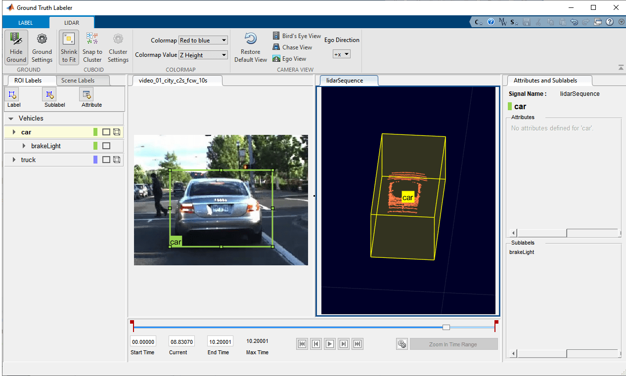 Label ground truth data for automated driving applications