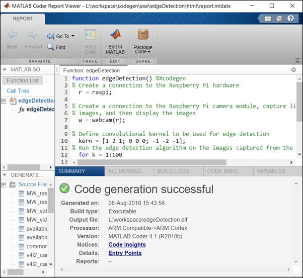 Deploy an Edge Detection Algorithm on the Raspberry Pi