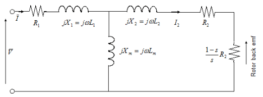 The Following Figure Shows Equivalent Circuit Model Of Simplified Induction Motor Block