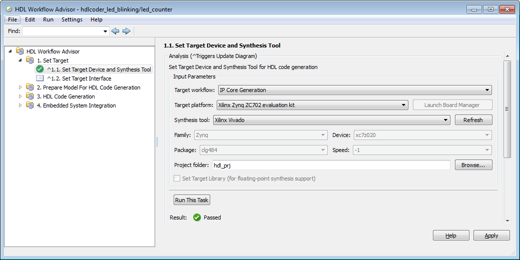 Generate an IP Core for Zynq-7000 Platform from Simulink - MATLAB