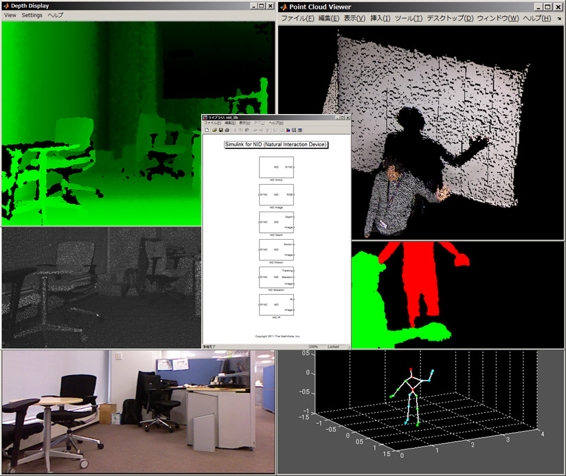 Microsoft Kinect Support in MATLAB & Simulink, courtesy MathWorks, Inc.