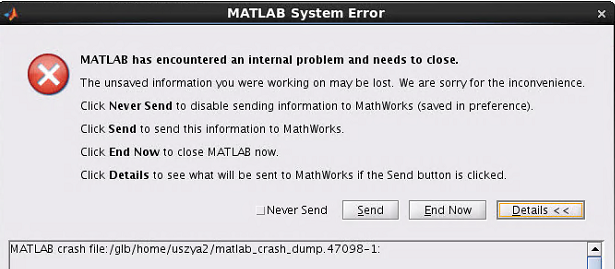 I am getting error while using Matlab on Linux OS please