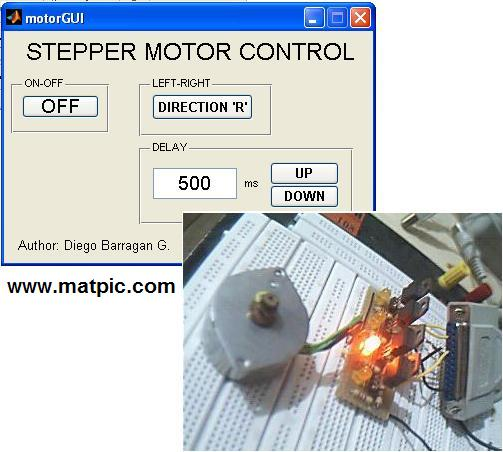 Stepper Motor Control With Gui File Exchange Matlab