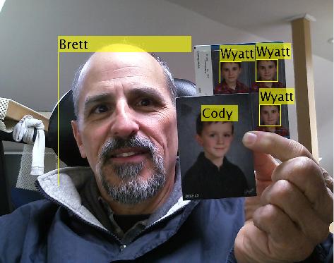 Punishment webcam w facial recognition