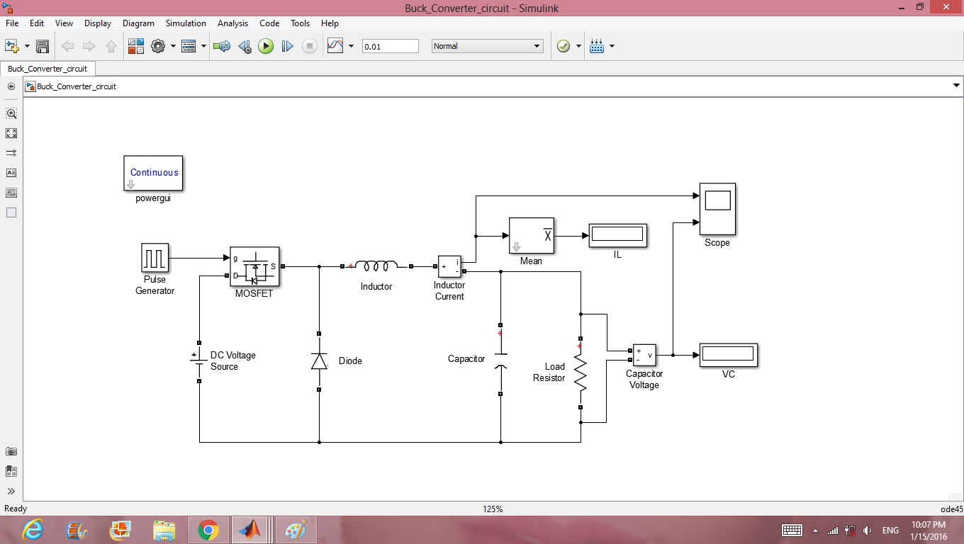 Dc Converters Using Circuitry Method File Exchange Matlab Central To Converter Circuit Also Buck Boost Design