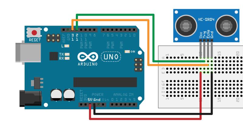 Control HC-SR04 Ultrasonic Sensor