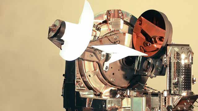 LOLA, eine optische Zweiwege-Laserverbindung zwischen einem Luftfahrzeug in der Luft und dem geostationären Satelliten Artemis.