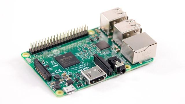 Eine RaspberryPi3-Platine.