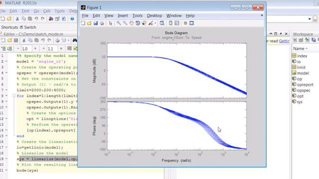 Erstellen Sie ein Skript für das Trimmen und die Linearisierung von Simulink-Modellen im Batch-Modus.