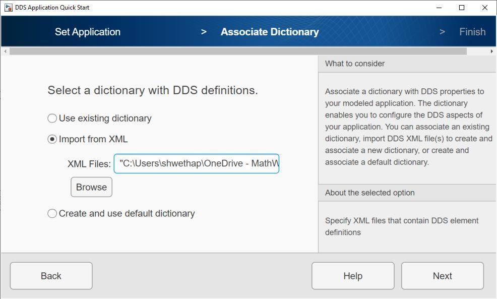 Schnittstelle für den Import einer XML-Datei.