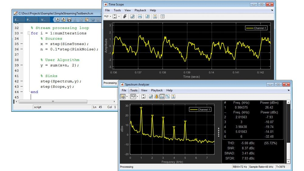 Streaming-Signalverarbeitung in MATLAB