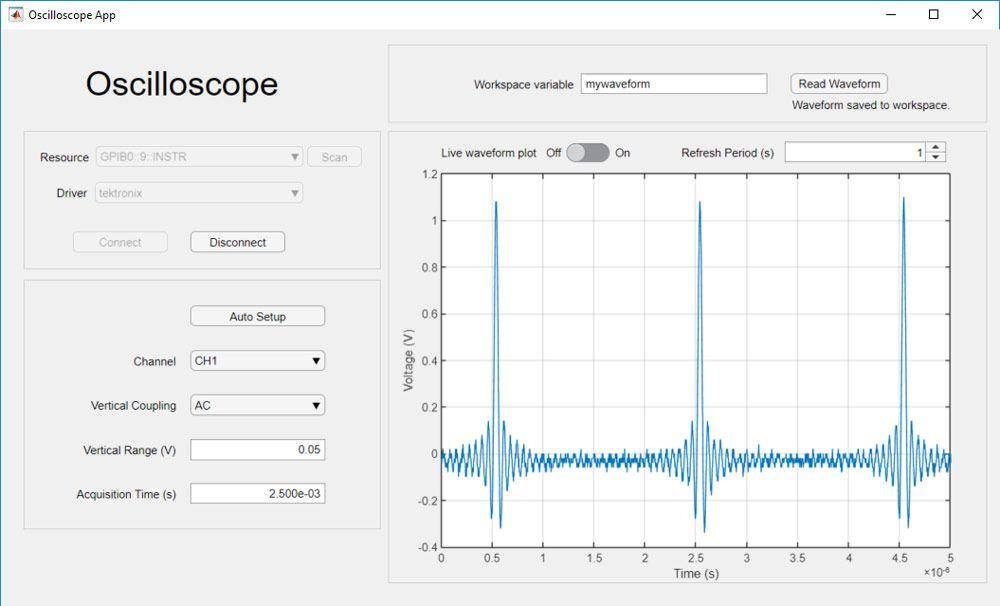 App zum Erfassen von Daten und Anpassen von Scope-Einstellungen.