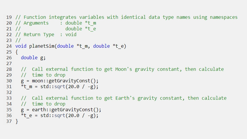 Generierter Code, der Variablen mit identischen Datentyp-Namen mit Hilfe von Namensräumen integriert.