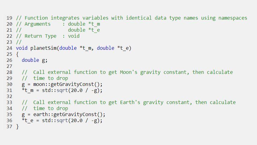Generierter Code, der Variablen mit identischen Datentyp-Namen mithilfe von Namensräumen integriert.