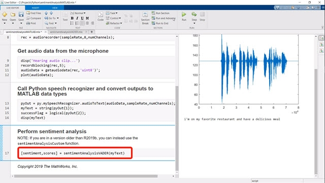 Learn how to call Python code from MATLAB using a sentiment analysis example.