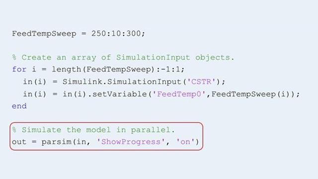 Parallele Ausführung mehrerer Simulationen mit der parsim-Funktion.