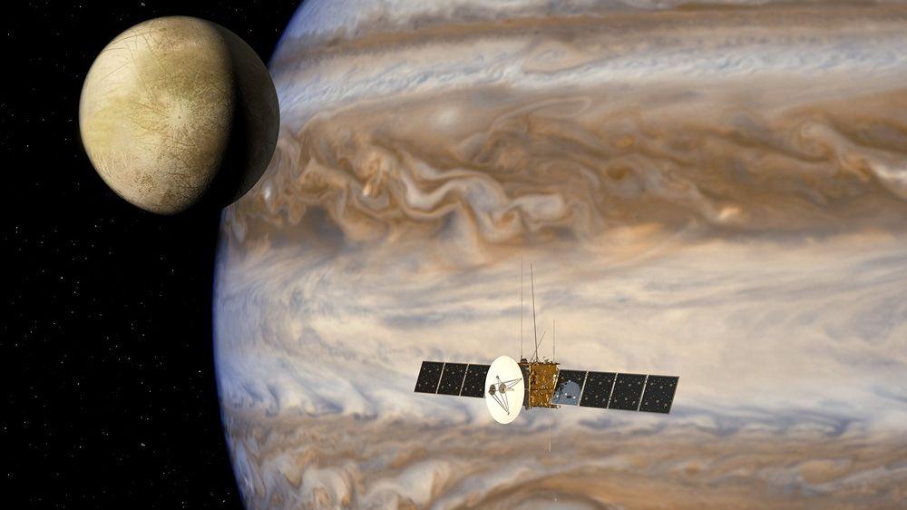 Airbus Defence und Space simuliert Datenflüsse für Jupiter Icy Moons Explorer-Mission.