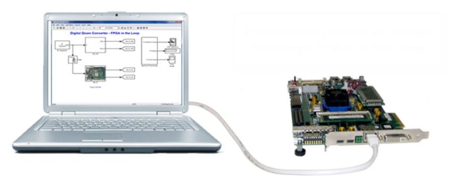 HDL Verifier unterstützt die FPGA-in-the-Loop-Verifikation mit FPGA-Platinen von Xilinx®, Intel® und Microsemi®.