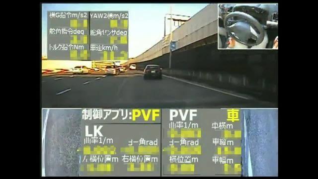 Erprobung des ACC-Algorithmus mit Hilfe der modellgestützten prädiktiven Steuerung auf einer öffentlichen Straße.