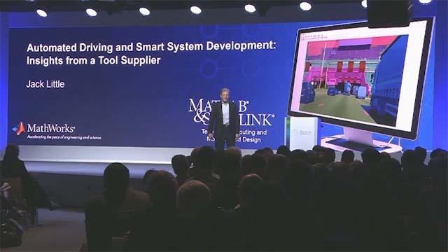 Hören Sie Jack Little, Präsident und Mitgründer von MathWorks, auf der Bosch Connected World2018 über Tools und Prozesse zur Entwicklung hoch zuverlässiger, autonomerer Automobilsysteme sprechen.