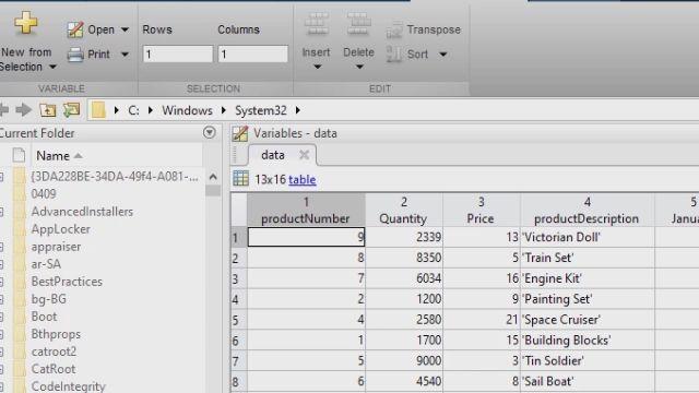 Überblick über die Database Explorer App, die den Haupt-Workflow für die Untersuchung relationaler Daten ohne SQL-Kenntnisse, den Import von Daten in MATLAB, die Durchführung von Analysen in MATLAB und die Reproduzierbarkeit der Ergebnisse berücksichtigt.