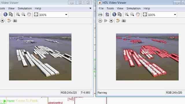 Verwenden Sie die Vision HDL Toolbox zum Erstellen einer streaming-hardwaregeeigneten Implementierung eines Eckenerkennungsalgorithmus.