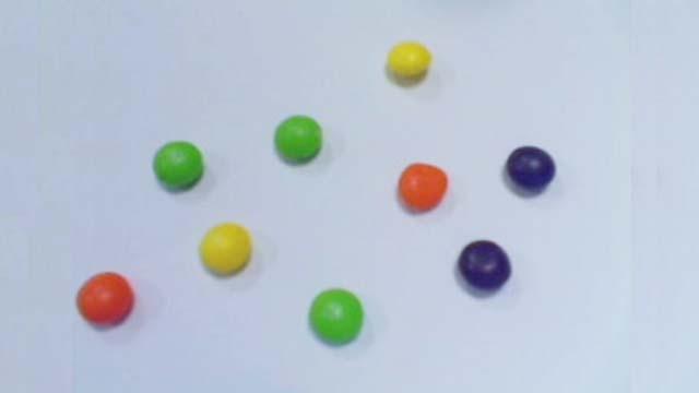 Erfassung und Verarbeitung von Kamerabildern, um Objekte von ähnlicher Farbe zu zählen.