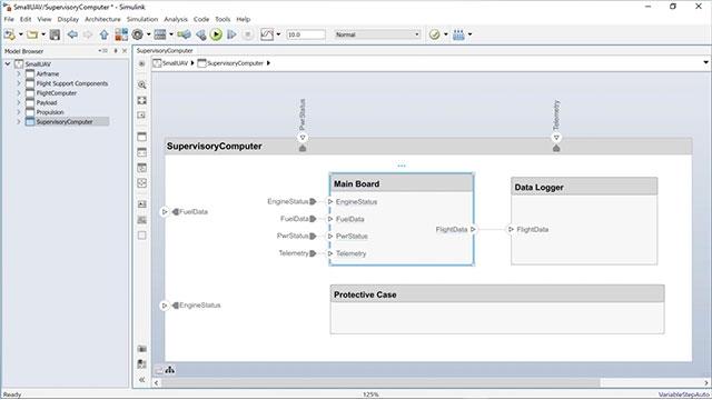 Lernen Sie, wie Sie mithilfe einer System Composer-Komponente ein Simulink-Verhaltensmodell sowie mithilfe eines bestehenden Simulink-Modells eine System Composer-Komponente erstellen können.
