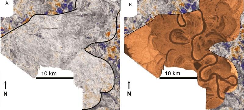 Ursprüngliches und angereichertes Seismogrammbild