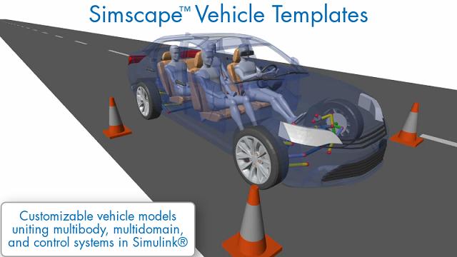 Erfahren Sie, wie Sie mit Simscape Fahrzeugvorlagen ein individuelles Fahrzeugmodell erstellen können, das sich für viele verschiedene Aufgaben in der Fahrzeugentwicklung nutzen lässt.