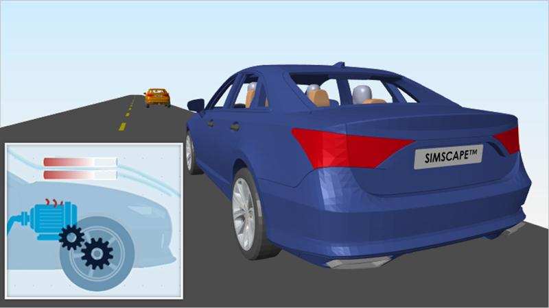 Erfahren Sie anhand der Modellierung eines Elektrofahrzeugs mit Batterie, wie Simscape Ihnen die Modellierung physikalischer Systeme ermöglicht. Schauen Sie sich an, wie Sie einen Schaltplan mit elektrischen, mechanischen und fluidischen Komponenten zu einem Modell zusammenstellen, mit dem Sie die Größe der Komponenten anpassen und Entwurfsentscheidungen treffen können.
