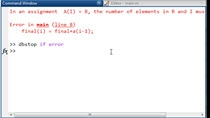 """The very common MATLAB error: """"In an assignment A(I) = B, the number of elements in B and I must be the same."""" occurs when one side of an assignment has a different dimension than the other."""