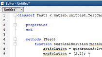Use the new xUnit-style testing framework for the MATLAB language to write and run unit tests, and analyze test results.