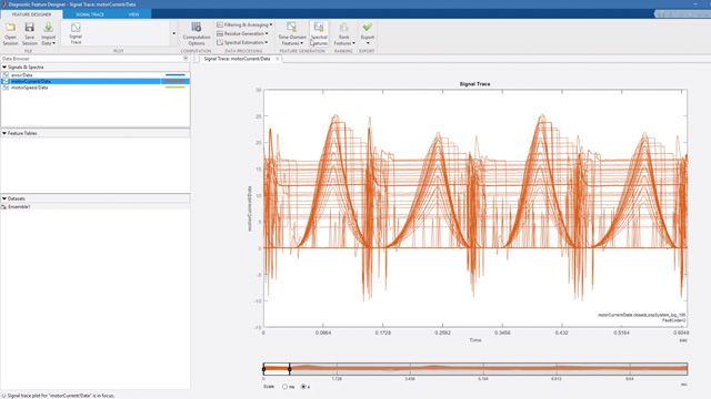 Learn how MATLAB can help you manage your data and extract useful condition indicators of your system.