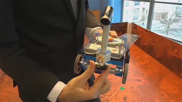 Discover the rover robot used during the Mission on Mars Robot Challenge.