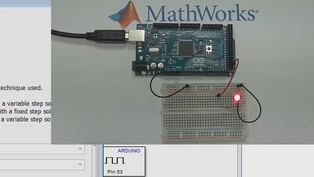 Cette vidéo montre comment construire un modèle Simulink® et l'exécuter sur une carte Arduino®.