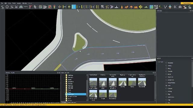 Learn how to create and edit roundabouts in RoadRunner interactive editing software.