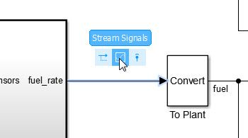 Access commonly used editing actions when clicking a block or signal line in Simulink .