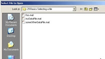 This is one in a series of videos covering MATLAB basics. It is meant for the new MATLAB user. This video covers how to use UIGETFILE to make it easier to select a file from a script, function or GUI. Find the files here. Other videos have been gathe